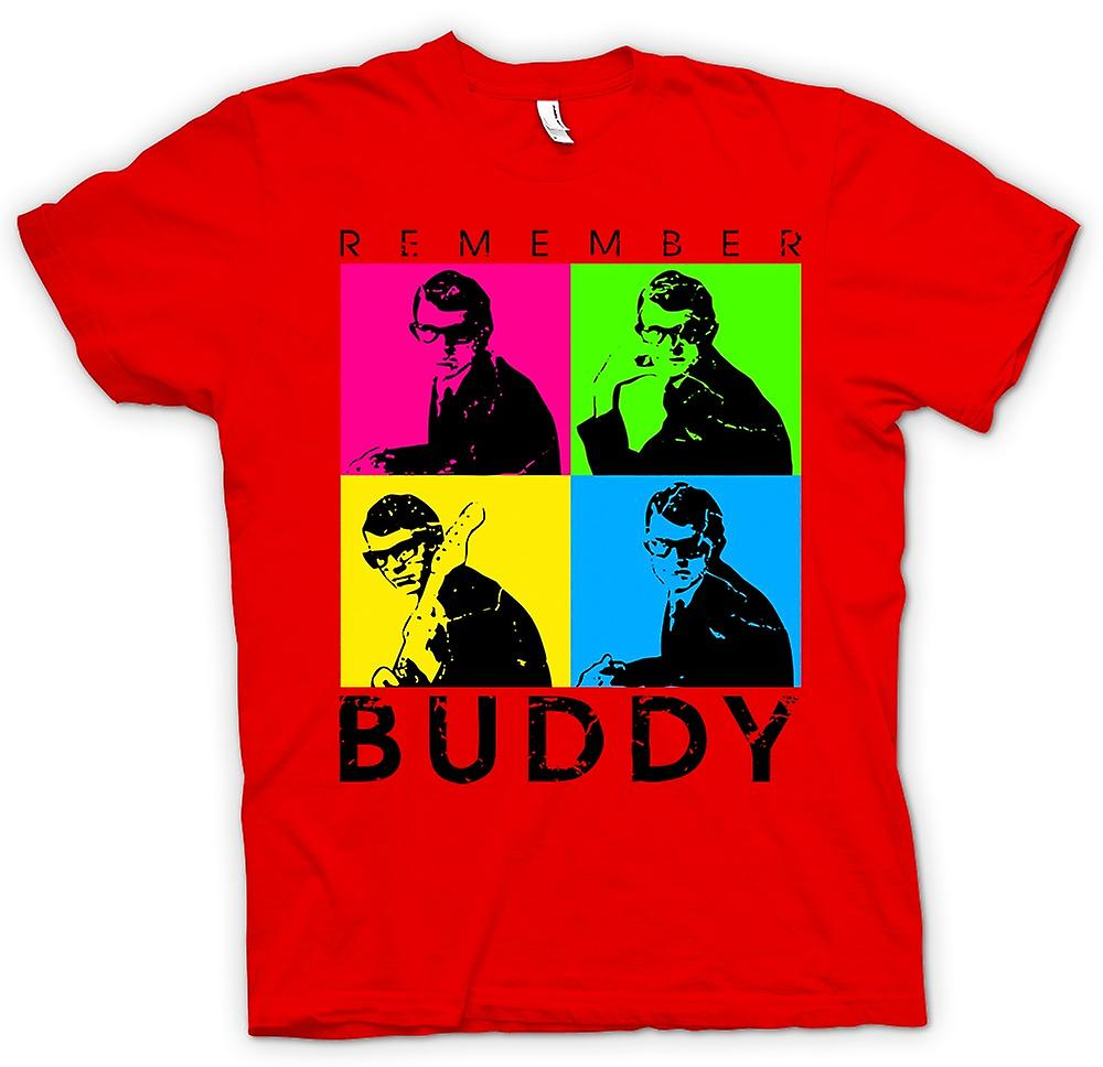 Herren T-Shirt - Buddy Holly Angemeldet