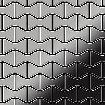 Metal mosaic Stainless Steel ALLOY Kismet-S-S-M