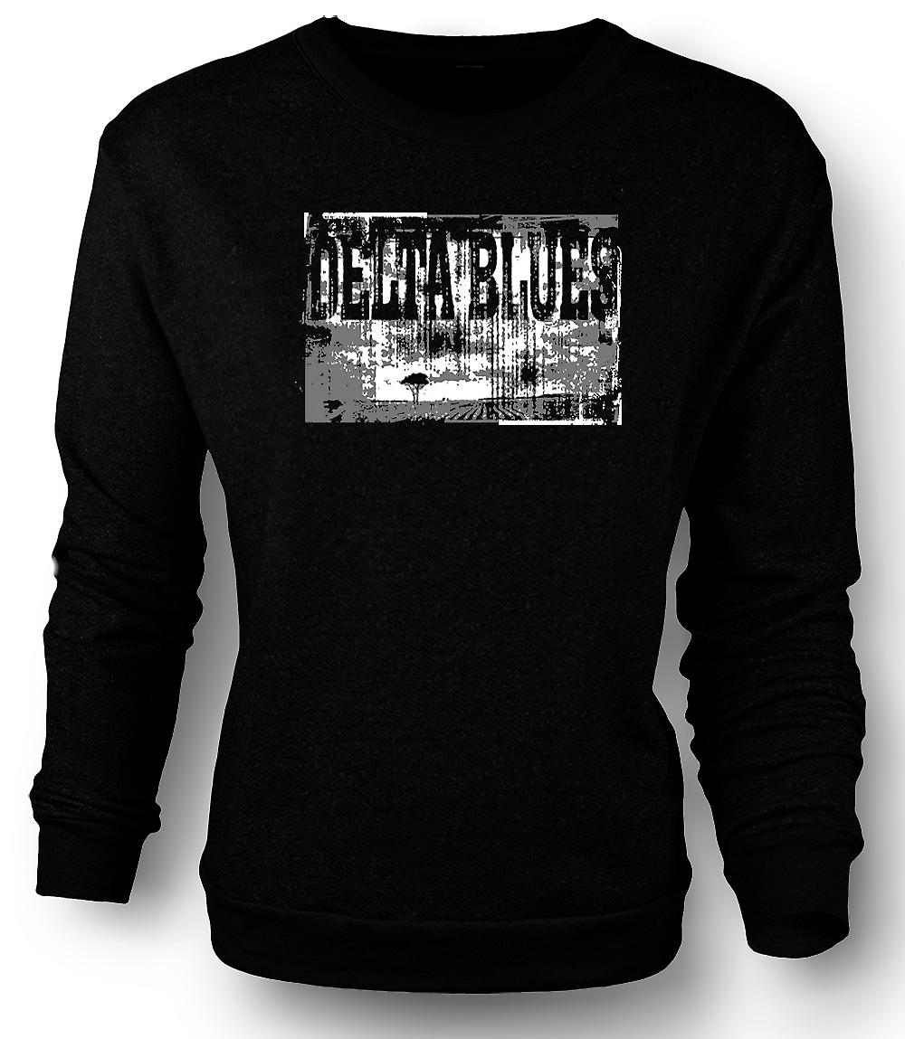 Mens Sweatshirt Delta Blues Guitar - Rock Music