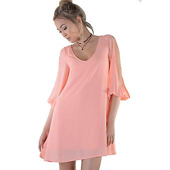 Lovemystyle Oversized Balloon Sleeve Bright Pink Dress - SAMPLE