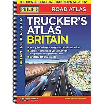 Philip's 2018 Trucker's Atlas Britain - Philips Road Atlas (Spiral bound)