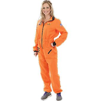 Womens Orange astronaute costume espace uniforme déguisements costumes