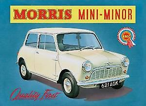 Morris Mini Minor steel fridge magnet