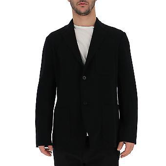 Issey Miyake Black Cotton Outerwear Jacket