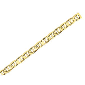 Concave 6.25mm Anchor Chain Bracelet 8 Inches in 14K Yellow Gold