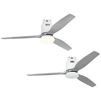 DC tak Fan Aerodynamix Eco hvit / sølv