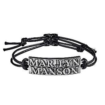 Marilyn Manson logo koord armband (RO)