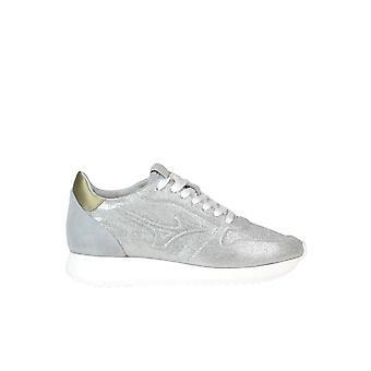 Mizuno Silver Leather Sneakers
