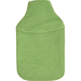 Cosy Fleece Plain 2L Hot Water Bottle & Cover: Lime Green