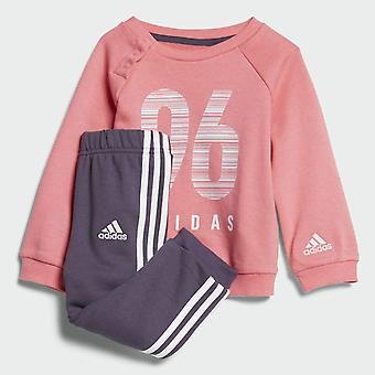 Adidas Infant Girls Sports Crew Terry Tracksuit Set CW3831