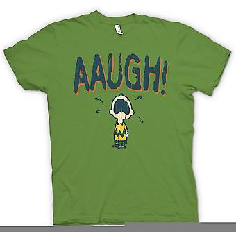 Mens T-shirt - Charlie Brown - AAUGH!