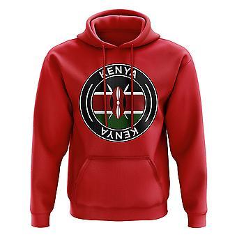 Kenya Football Badge Hoodie (Red)