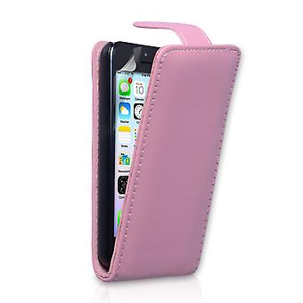 YouSave Accessories iPhone 5C Leather Effect Flip Case Baby Pink