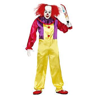 Costume coloré de robe de fantaisie de clown de clown de tueur d'homme