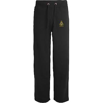 Royal Irish Regiment Veteran - Licensed British Army Embroidered Open Hem Sweatpants / Jogging Bottoms