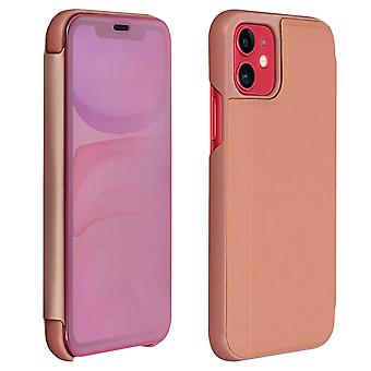 Flip Case, Mirror Case for Apple iPhone 11, Standing Cover - Rose gold