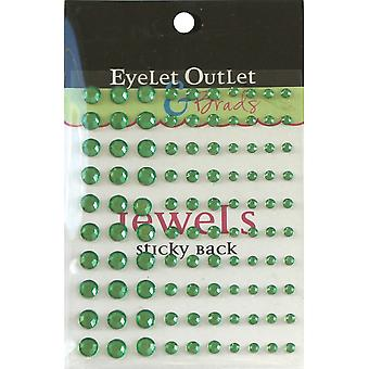 Bling Self Adhesive Jewels Multi Size 100 Pkg Green Eob4 Grn