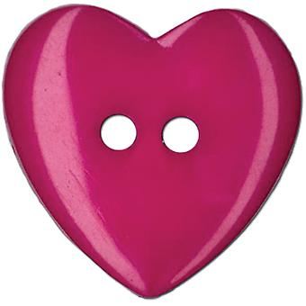 Slimline Buttons Series Funtastics Fuchsia Heart 2 Hole 1