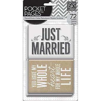 Me & My Big Ideas Pocket Pages Themed Cards 72Pcs Wedding Mmbi Tpc 14