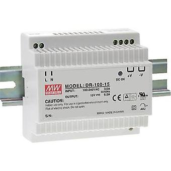 Carril montado PSU (DIN) significa pozo DR-100-15 15 Vdc 6.5 A 97 W 1 x
