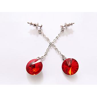 Red Crystal Ohrringe EMB 14,5