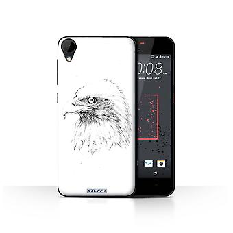 STUFF4 Case/Cover for HTC Desire 825/Eagle/Bird/Sketch Drawing