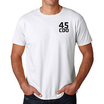 45 commando Royal Marines tekst brodert Logo - offisielle bomull T skjorte