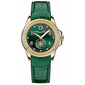 Thomas Sabo Ladies Glam Chic Green Leather Green Dial WA0255-276-211-33 Watch