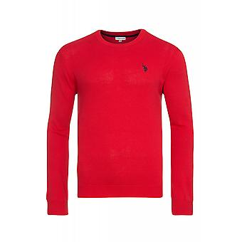 U.S. POLO ASSN. Round neck sweater men's sweater red 173 42965 51894 155