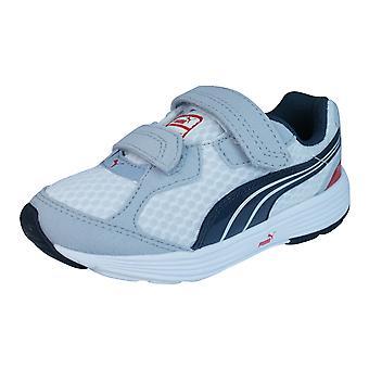 Puma afstammeling V Kids Running Trainers / schoenen - White