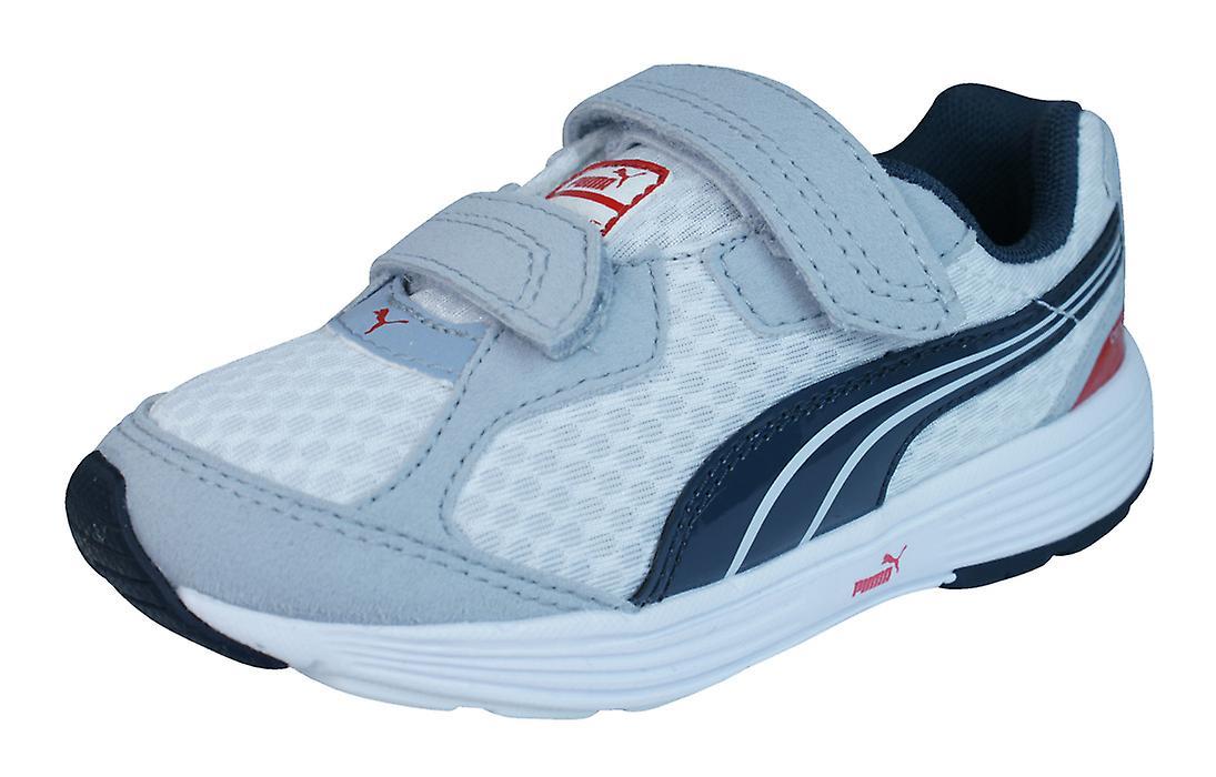 PUMA Nachkomme V Kids Running Trainer / Schuhe - weiß