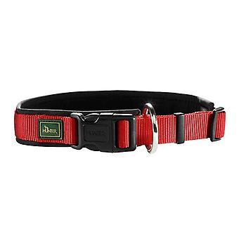 Hunter Neopren Vario Plus 55 Nylon Collar Red/black 25mm X 50-55cm