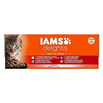 Iams Delights Cat Pouch Land Sea In Gravy 48x85g