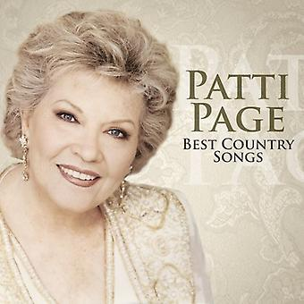 Patti Page - importazione USA Best Country Songs [CD]