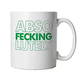 Vectorbomb, Abso Fecking Lutley, Funny Novelty Irish Mug