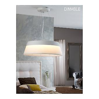 Schuller Swing White LED Pendant Ø69