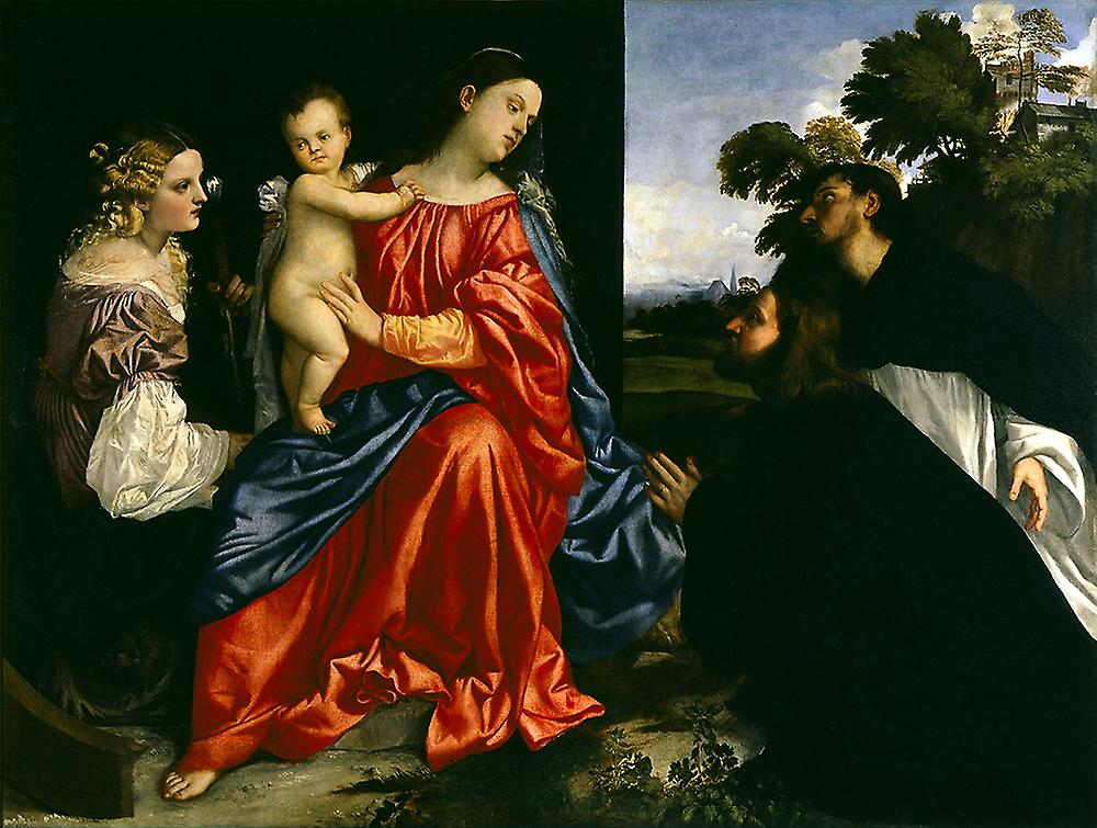 Titian - Madonna and Child Poster Print Giclee