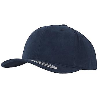 Flexfit brushed cotton twill mid profile Cap - navy