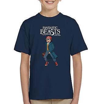 Fantastic Beasts Ash Pokemon Kid's T-Shirt