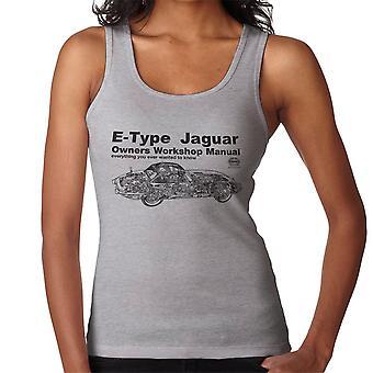 Haynes eiere Workshop manuell Jaguar E skriver svarte kvinner Vest