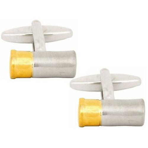 Zennor Gun Cartridge Cufflinks - Gold/Silver