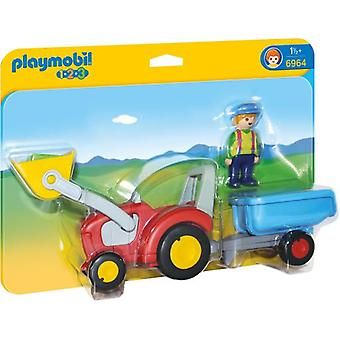 Playmobil 6964 Tractor with Trailer (Toys , Preschool , Playsets , Vehicles)