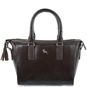 Ashwood Small Veg Tanned Leather Tote - Si 1344 - Brown/vt