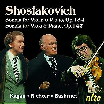 Oleg Kagan, Yuri Bashmet, Sviatoslav Ric - Shostakovich: Vilolin Sonata Viola Sona [CD] USA import
