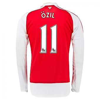 2015-16 Arsenal Home Langarm-Shirt (Ozil 11) - Kids
