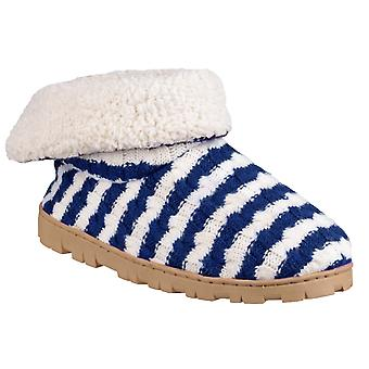 Divaz Womens/Ladies Latvia Striped Slippers