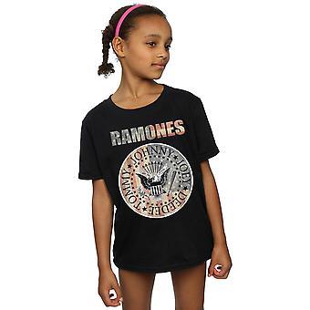 Ramones Girls Flag Seal T-Shirt