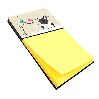 Christmas Presents between Friends French Bulldog Black White Sticky Note Holder