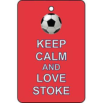 Keep Calm And Love Stoke Car Air Freshener