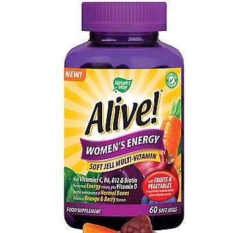 Nature's Way, Alive! Women`s Energy Soft Jells, 60 chewables